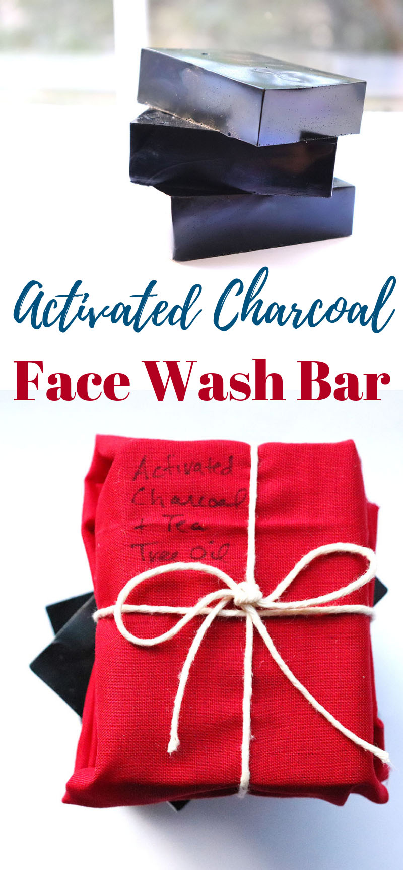 How to make Activated Charcoal Face Wash Bar for cleaner, hydrated, skin